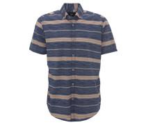 Freizeithemd, Kurzarm, Streifen, Button-Down-Kragen, Mehrfarbig