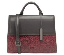 """Handtasche """"Florence"""", Rindsleder, florale Prägung, Rot"""
