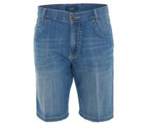 Jeans-Shorts, Baumwollmix, Waschung, Blau