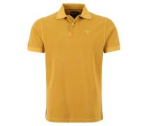 Poloshirt, Piqué, reine Baumwolle, Gelb