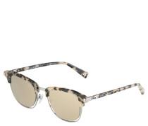 Sonnenbrille, Halbrand, Metalldekor
