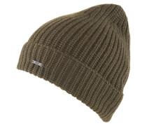 Mütze, Wolle, Grobstrick, Logo-Emblem, uni
