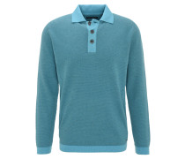 Pullover, Baumwolle, Klappkragen, Knopfleiste