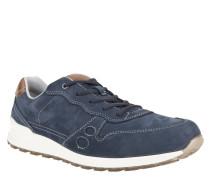 Sneaker, Veloursleder, Kontrastnähte, Blau