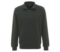 Sweatshirt, kontrastive Nähte, elastische Bündchen, Grün