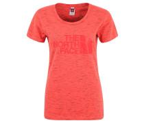 T-Shirt, Melange, Print, Rundhals, für Damen, Rot