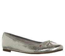 "Ballerinas ""Allen"", Metallic-Design, Silber"