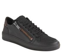 Sneaker, Reißverschlüsse, strukturiert, Schwarz