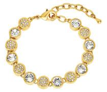 Armband mit Kristallen gelbvergoldet, Rosegold