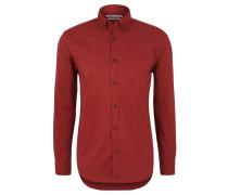 Freizeithemd, Regular Fit, Button-Down-Kragen, Rot