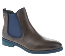 Chelsea Boots, Leder, Stretch-Einsatz, Logo-Emblem, Taupe