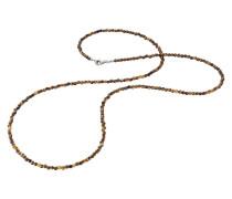 Kette Tigerauge Silber 80cm