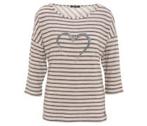 Shirt, 3/4-Arm, gestreift, Pailletten