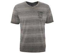 T-Shirt, V-Ausschnitt, Waschung, reine Baumwolle, Grau