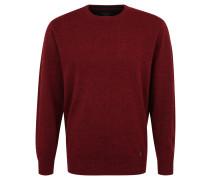 Pullover, Woll-Anteil, meliert, Rundhals, Rot