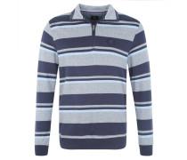Sweatshirt, Muster, Reine Baumwolle, Blau