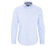 Freizeithemd, Button-Down-Kragen, aufgesetzte Brusttasche, Blau