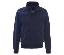 Jacke, Blouson-Stil, Stehkragen, Blau