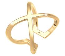 Ring Kreuz Blogger Statement 925 Sterling Silber