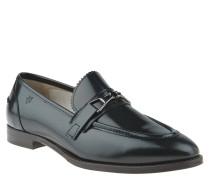 Loafer, Glattleder, Schnalle, glänzend, Schwarz