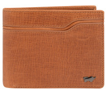 "Brieftasche ""Montana"", Rindsleder, Emblem, Braun"