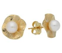 Ohrstecker, Perle, 585er Gold