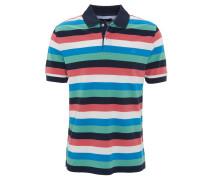 Poloshirt, Streifen, Logo-Stickerei, Grün