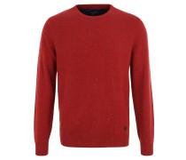Pullover, Woll-Feinstrick, Melange, Rundhals-Ausschnitt