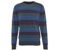 Pullover, Baumwolle, Streifen, Blau