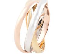 Gold Ring, 3-teilig, verschlungen