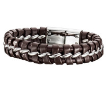 Armband Lima Leder braun mit Edelstahl SBB-LIMA-BR-21