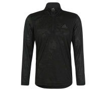 Sweatshirt, Mesh-Material, Stehkragen, Schwarz