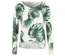 Pullover, Feinstrick, Print, Beige