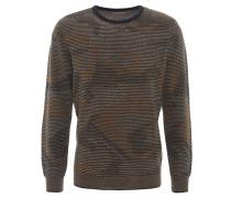 Pullover, strukturiert, Woll-Mischung, Mehrfarbig