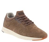 Sneaker, Kalbvelours-Leder, Profilsohle, Braun