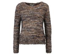 Pullover, gemustert, Fransen, Mehrfarbig
