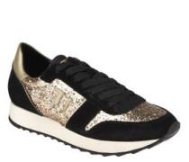 Sneaker, bunter Glitzer, kräftige Sohle