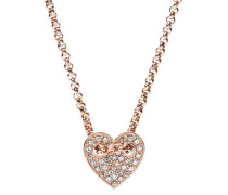 Kette mit Anhänger Herz, Valentine, Edelstahl, JF02284791
