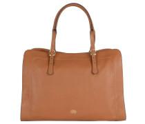 """Handtasche """"Zalia"""", weiches Leder, goldfarbene Details, Braun"""