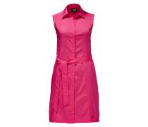 Kleid, uni, ärmellos, Gürtel, schnelltrocknend, für Damen, Pink