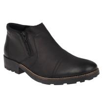 Boots, Leder, Schurwollfutter, dämpfend, flexibel, Schwarz