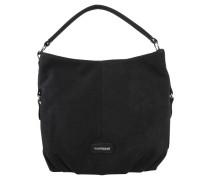 Handtasche, Lederoptik, Reißverschluss, Schwarz