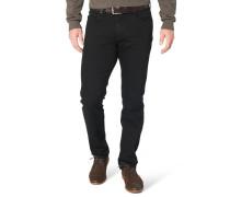 "Jeans-Hose ""Cadiz I"", gerader Schnitt, Schwarz"