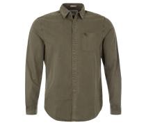 Freizeithemd, verstärkte Knopfleiste, Brusttasche, Oliv