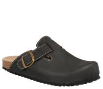 Pantoffeln, geformtes Leder-Fußbett, Schnalle