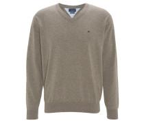 Pullover, V-Ausschnitt, Beige