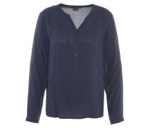 Bluse, Muster, reine Viskose, Knopfleiste, Blau
