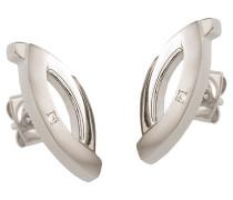Ohrstecker oval, Reintitan mit Diamanten 0591-03