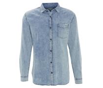 Jeans-Hemd, Brusttasche, Baumwolle, Blau
