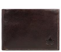Brieftasche, Rindsleder, Ziernähte, Braun